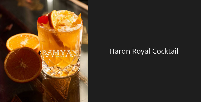 Cocktails in München | Haron Royal Cocktail im Bamyan Narges