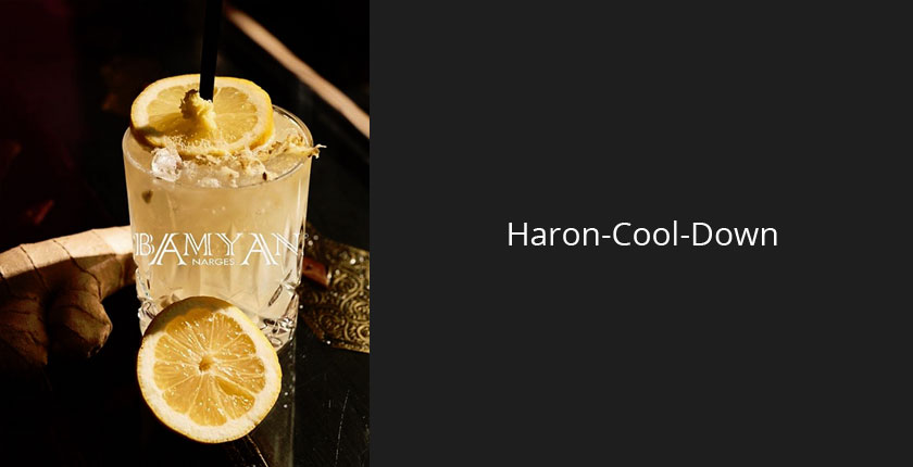 Haron Cool Down Cocktail im Bamyan Narges